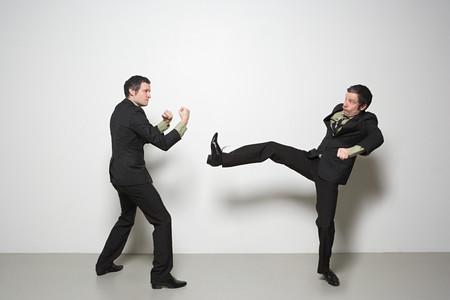 identical: Man Fighting Himself LANG_EVOIMAGES