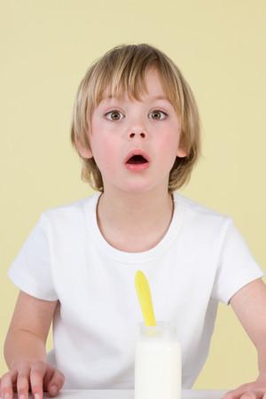 disbelief: Boy With Yoghurt