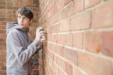 Boy Doing Graffiti LANG_EVOIMAGES