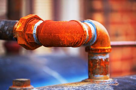 Rusty water pipe