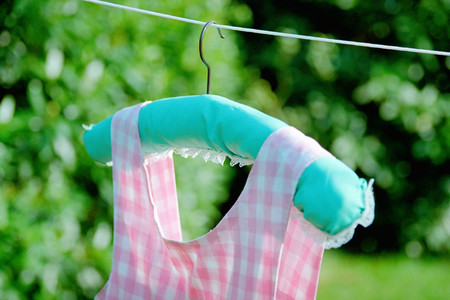 Summer clothes on washing line