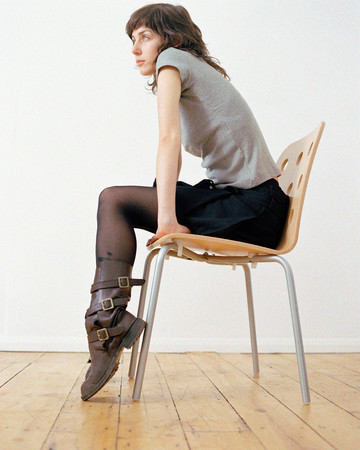 Woman sitting on chair