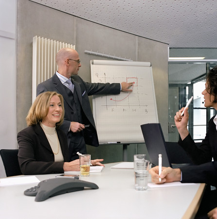 Business people in a presentation