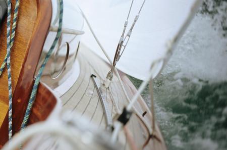 Boat in rough sea