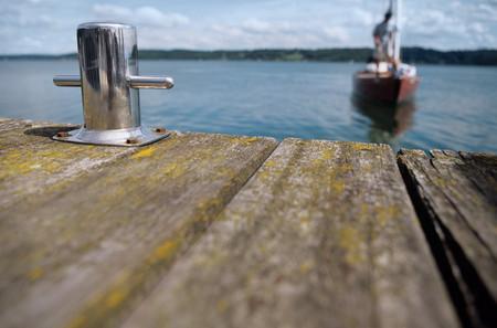 Boat approaching jetty