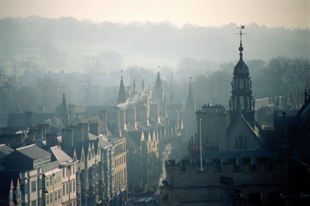 City of Oxford in mist