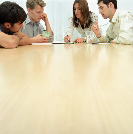 Office workers in meeting LANG_EVOIMAGES