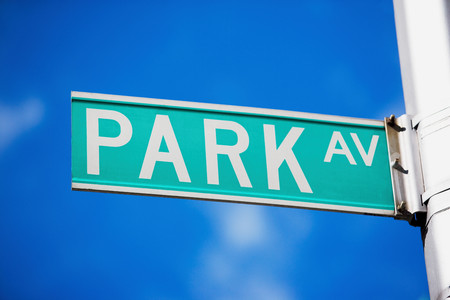 Park avenue street sign in new york