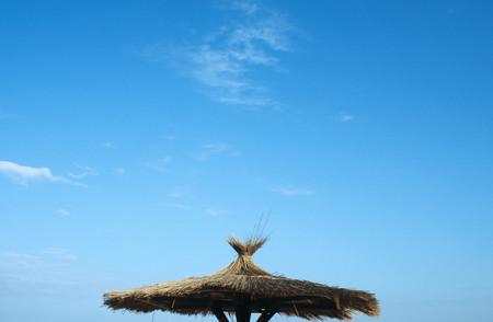 Beach hut roof