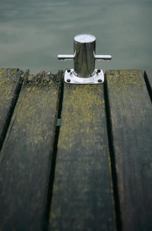 Bollard on a jetty