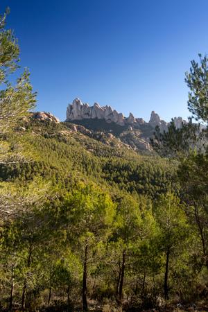Montserrat mountains, Barcelona, Catalonia, Spain, Europe LANG_EVOIMAGES