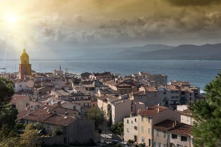 Panoramic view of Saint-Tropez, Provence-Alpes-Cote dAzur, France, Europe