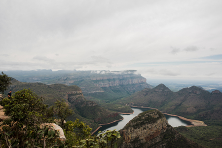 The Three Rondavels, South Africa, elevated view