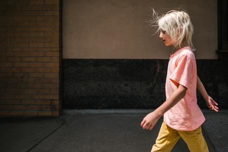 Boy on day trip, Toronto, Canada
