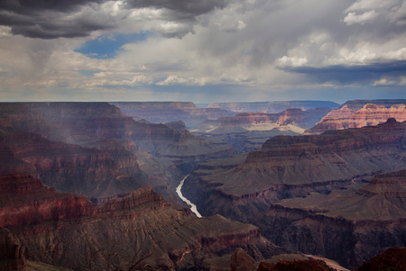 View across the Grand Canyon National Park,showing the Colorado river,Arizona,USA