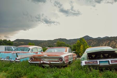 Vintage car graveyard,Utah USA