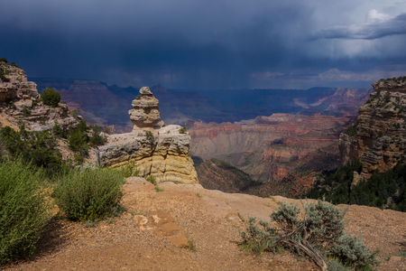 Storm clouds approaching across the Grand Canyon National Park,Arizona,USA LANG_EVOIMAGES