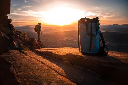 Rock climber,Desert Towers,Indian Creek,Moab,Utah,USA
