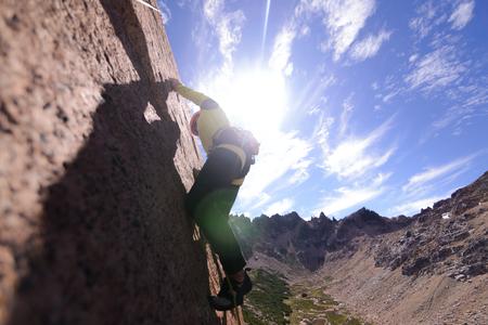 Rock climbing in Frey, San Carlos de Bariloche, Rio Negro, Argentina