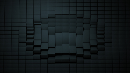 Background cube Distortion Black, box, effect 写真素材 - 109111027