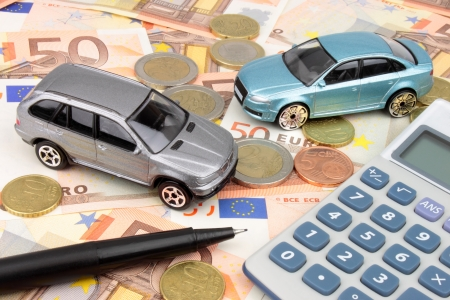Two new luxury cars on Euro notes and coins