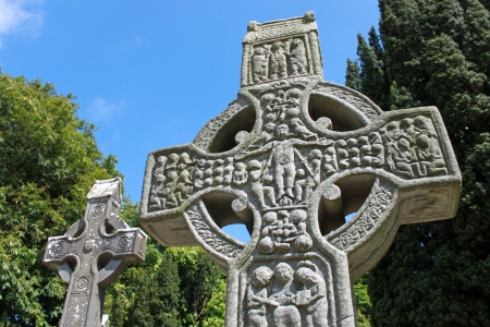 christian crosses: West view of Muiredach Stock Photo