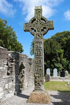 monastic site: The West Highcross at, the Monasterboice monastic site  Stock Photo