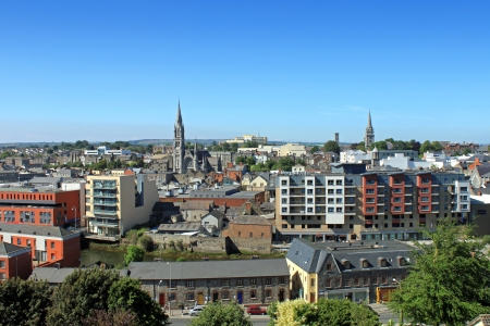 A townscape view of Drogheda, County Louth  版權商用圖片