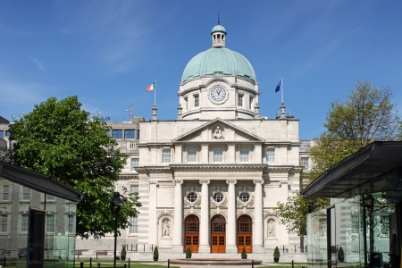 The Dail Government Building in Dublin, Ireland.