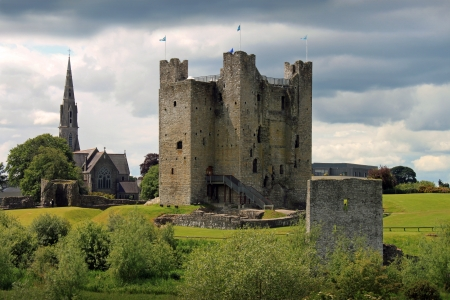 county meath: Medieval Trim Castle in County Meath, Ireland