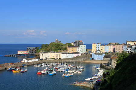 tenby wales: The beautiful seaside town of Tenby, in Wales  Stock Photo