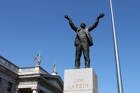 eire: Monument of Jim Larkin, infront of  Dublin Editorial