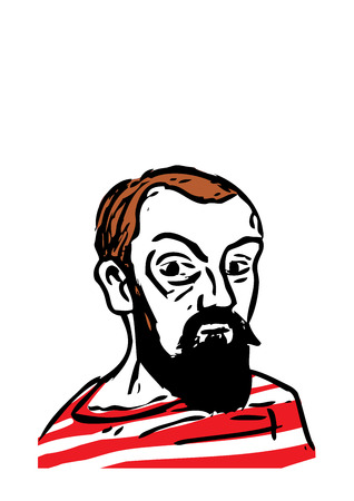 draftsman: A vector illustration of the French artist, Henri Matisse.
