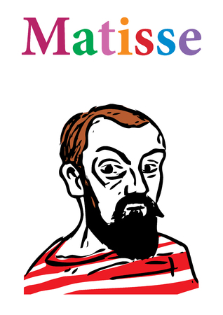 artists: A vector illustration of the French artist, Henri Matisse.