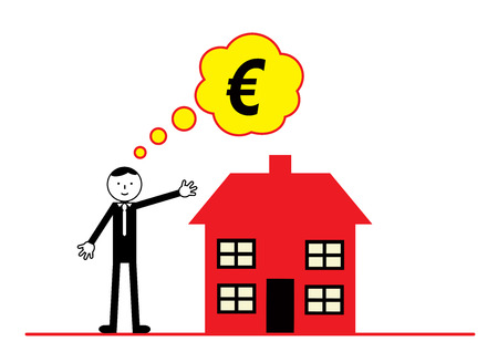 home finances: A vector illustration on Euro property and home prices. Illustration