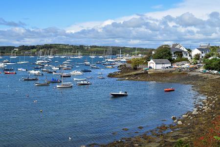 볼티모어의 해안 마을, 아일랜드에서 서쪽 코르크의 전망.