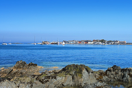 A view of Skerries looking across the bay to the harbour. 版權商用圖片