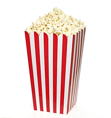 Striped Big Popcorn box including clipping path