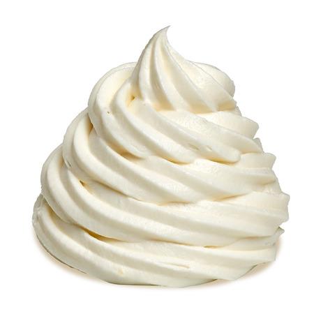 Soft vanilla ice cream with clipping path Foto de archivo