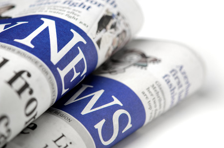 Newspaper detail with shallow depth of field