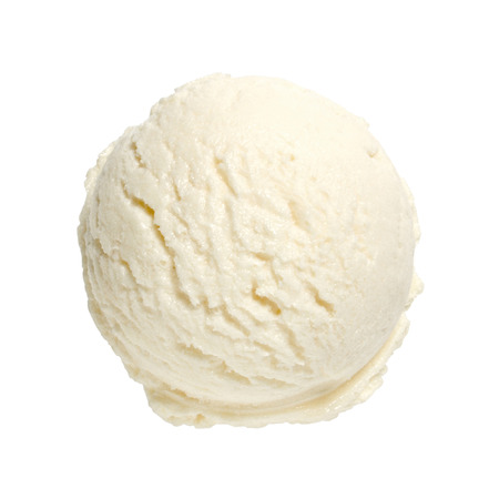 vanilla ice cream: Scoop of vanilla ice cream on white background with clipping path
