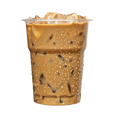 Iced coffee or takeaway cup of caffe latte