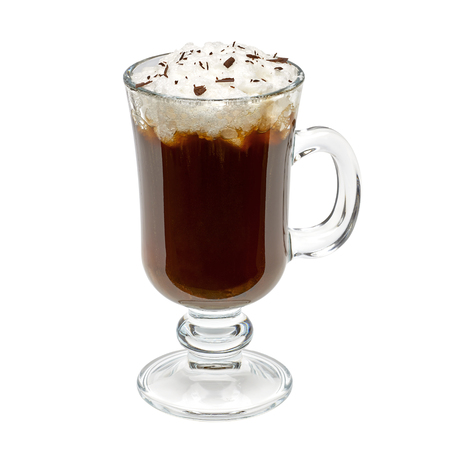 Irish coffee isolated on white background