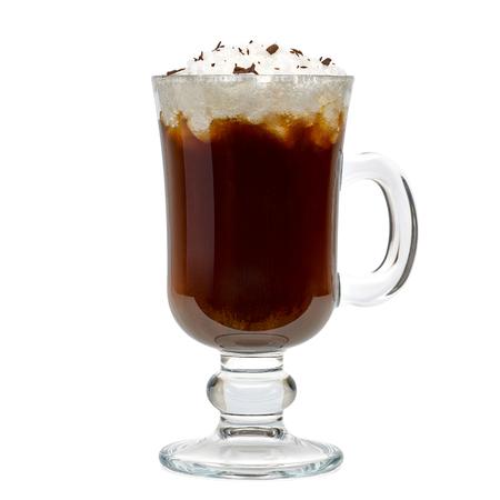クリッピング パスを含む白い背景に分離されたアイルランドのコーヒー 写真素材