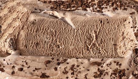 helado de chocolate: Helado de chocolate macro detallada textura Foto de archivo