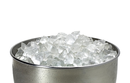 crushed ice: Crushed ice in bucket on white background