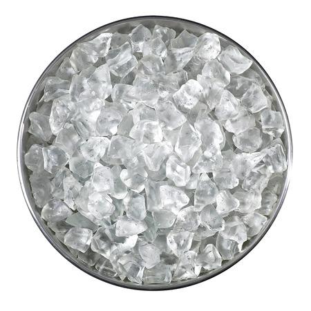 ice crushed: Emmer gemalen ijs van boven Stockfoto