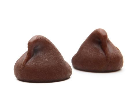 cikolata: macro morsels on white background