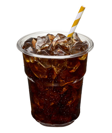 Iced coffee in takeaway cup. Reklamní fotografie