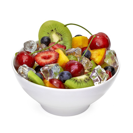 close up view: Fruit salad in bowl